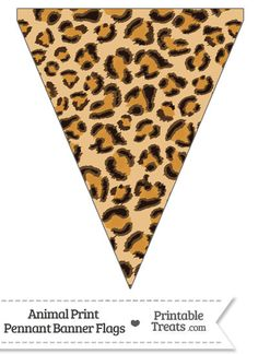 Here is a cute jaguar print pennant banner flag you can use to decorate your home or classroom for a birthday celebration. This jaguar print pennant banner flag is decorated with a spotted Jungle Theme Parties, Jungle Theme Birthday, Safari Party, Jungle Party, Safari Theme, Leopard Print Party, Animal Print Party, Cheetah Birthday, Disney Cars Party