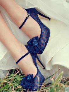 Something blue- vintage shoes -
