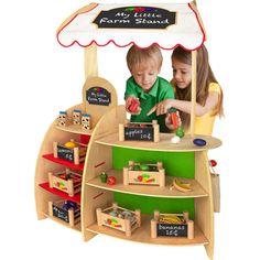 My Little Farm Stand wooden kids make believe playset