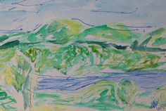 "Milton, VT, Watercolor on Paper, 4"" x 6"", 2005"