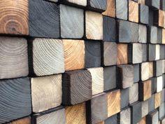 En bois Art Wall Sculpture - bois récupéré - Sculpture rustique