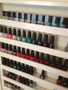 For my daughters...How to: Build Your Own Nail Polish Rack