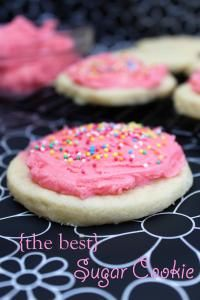 Sugar Cookies with Whipped Buttercream Frosting