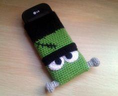 "Funda móvil ""Frankenstein"" (Crochet, Ganchillo)"
