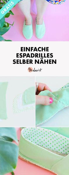Sew simple espadrilles yourself via Makerist Magazine # sewingmak . - Lu at Work at Makerist - Modes Diy Clothes Kimono, Diy Summer Clothes, Summer Diy, Sewing Clothes, Summer Outfits, Kids Clothes Patterns, Kids Clothes Boys, Kids Outfits Girls, Espadrilles