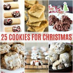 'Tis the season for holiday baking! Get inspired by these 25 Cookies for Christmas that are sure to be a hit with all your friends and family! Holiday Cakes, Holiday Treats, Christmas Treats, Holiday Recipes, Christmas Recipes, Christmas Foods, Christmas Time, Cookie Desserts, Just Desserts