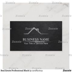 Shop Real Estate Professional Black Business Card created by cardfactory.
