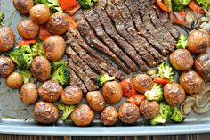 If you are like me and you like a clean kitchen, then check out this recipe for Sheet Pan Flank Steak and Roasted Garlic Potatoes - easy to cook and clean!