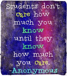 Every teacher needs to remember this...The power of the relationship...