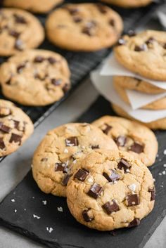 Your search for the most Perfect Chocolate Chip Cookie recipe is over. These homemade brown butter chocolate chunk cookies are the best you will ever find. #chocolatechipcookies #best #easy #homemade #chunk #salted #brownbutter #chewy Crunchy Cookies Recipe, Perfect Chocolate Chip Cookie Recipe, Chocolate Chunk Cookies, Candy Recipes, Cookie Recipes, Dessert Recipes, Brown Butter, Just Desserts, Sweet Treats