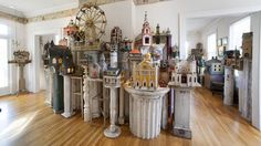 ❤ =^..^= ❤   A Vast, Private Collection of Tiny Folk-Art Structures - NYTimes.com.  Video.