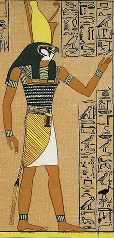 The bird-headed Horus.