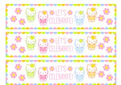 FREE HELLO KITTY WATER BOTTLE LABELS...Kambell's party