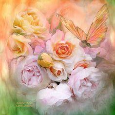 Summer Roses Mixed Media by Carol Cavalaris