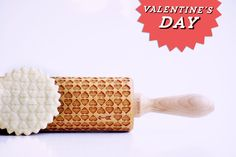 Valentine's Day hearts - embossing rolling pin, laser engraved rolling pin. <3 by ValekRollingPins on Etsy https://www.etsy.com/listing/218629999/valentines-day-hearts-embossing-rolling