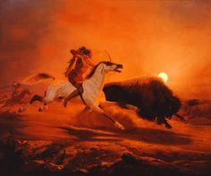 Charles Christian Nahl (1818-1878), Buffalo Hunt, 1868 (Oil on canvas)