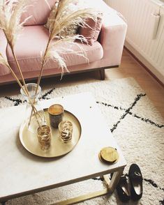 Blush Pink Living Room, Pink Room, Interior Inspiration, Room Inspiration, Ikea New, Touch Of Gold, Decoration, Home And Living, New Homes