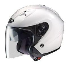 #helmets HJC IS-33 WHITE 3/4 open face helmet