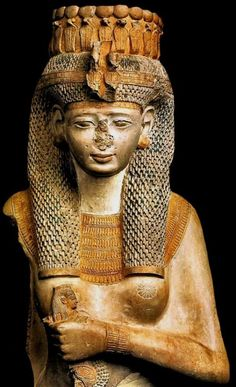 Princess Meritamon. She was the 4th daughter of King Ramses II and his wife Queen Nefertari. She married to king Ramses II after the death of Queen Nefertari and became a Great Royal Wife. 19th dynasty, about 1240 BC. Cairo Museum.