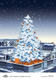 Hermès - campagne de publicité / ad campaign - Noël 2014 - Publicis & Nous - sapin - by Dimitri Rybaltchenko