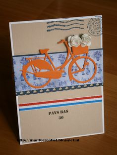 Holland kaart 3d Cards, Cool Cards, Marianne Design Cards, Bicycle Cards, Window Cards, Embossed Cards, Die Cut Cards, Card Tutorials, Punch Art
