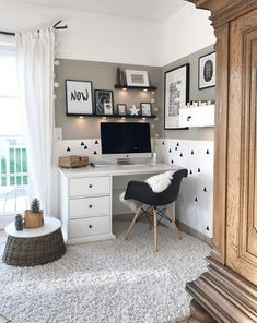 won't mind obtaining job made with a home office like among these. Discover inspiration for your home office design with ideas for design, storage and furnishings. Room Design Bedroom, Room Ideas Bedroom, Bedroom Decor, Study Room Decor, Aesthetic Room Decor, Home Office Decor, Office Ideas, Office Designs, Dream Rooms