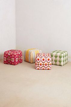 Patterned Box Ottoman #anthropologie