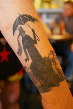 Edward Gorey Tattoo by Dapper Lad Cycles, via Flickr