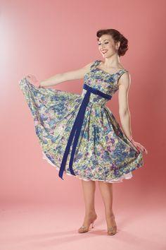 Vintage 1950s Jerry Gilden Dress Bolero Floral by unionmadebride, $325.00