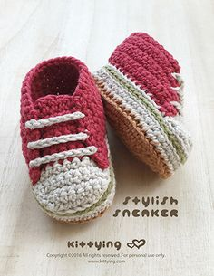 Stylish Baby Sneakers Crochet Pattern Kittying Crochet Pattern by kittying.com from mulu.us This pattern includes sizes for 0 – 12 months.