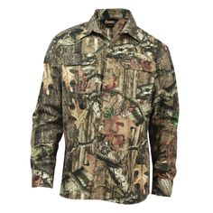 812ffa839e7 Rocky Vitals Mens MOBU Cotton Blend Brushed Twill Hunting 7 Button Shirt