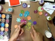 Pocket Mini Album & Altering Flowers