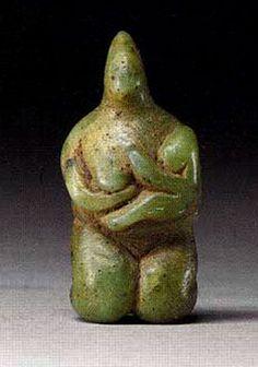 Figura de una madre y el niño Siria 5000 aC a 4000 aC