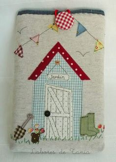 SewforSoul: Appliqued Journal Cover