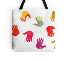 Colorful Hands Tote Bag - Design by Claudia H. Blanton, available on Redbubble