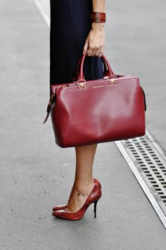 Emporio Armani bag | Maritsa. RED LEATHER!!!!!! would wear every day if I didn't work from home!!!