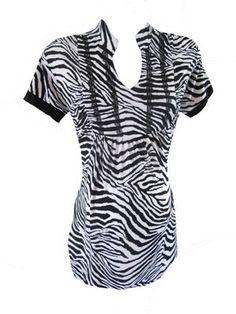 Silky Zebra Top by Tatianas Maternity - Maternity Clothing - Flybelly Maternity Clothing