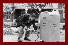 Walt Disney's attention to detail was amazing. Here, he is cleaning up trash in front of the Fire Station in Town Square (Courtesy of Disney History Institute: http://www.disneyhistoryinstitute.com/2009/11/wednesday-fun-foto-thousand-words.html)