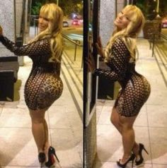 Photos Of Woman Who Claims To Have The Biggest Natural Butt Of Any White Woman In The US