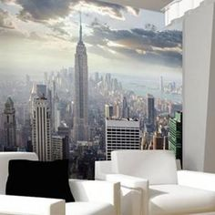 Photo Wall Mural New York Sunrise Wallpaper Art Decor Manhattan USA City…
