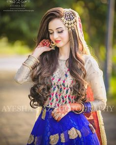 Pakistani Bridal Hairstyles, Bridal Hairstyle Indian Wedding, Pakistani Bridal Makeup, Indian Bridal, Pakistani Jewelry, Indian Hairstyles, Wedding Hairstyles, Beautiful Pakistani Dresses, Pakistani Formal Dresses