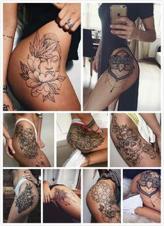 I love it - Hot Girls with sexy Tattoos - Tattoo Ideas Tattoo Po, Tigh Tattoo, Usa Tattoo, Tattoo Henna, Tattoo Thigh, Side Thigh Tattoos, Piercings, Piercing Tattoo, Body Art Tattoos
