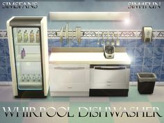 Dishwasher Machine by Sim4fun at Sims Fans via Sims 4 Updates