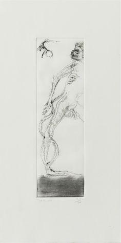 Artist: Francisco Toledo Title: Chango I Medium: Etching Size: 50.2 x 25.4 cm