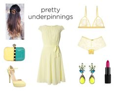 """Luscious Lemon"" by rivmisty ❤ liked on Polyvore featuring Cosabella, Billie & Blossom and prettyunderpinnings"