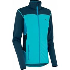 Lina F/Z Fleece vest blauw dames