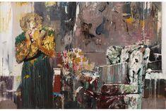 "Adrian Ghenie - Pie Fight Interior 2, 2012. Oil on canvas, 50-1/4"" x 78"" (127.6 cm x 198.1 cm)."