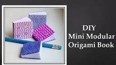 DIY - Mini Modular Origami Book (Easy) - YouTube