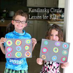 Kandinsky Circle Art Lesson for Kids.