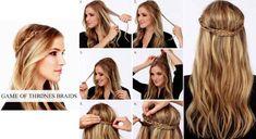 Acconciature capelli lunghi semi raccolti fai da te